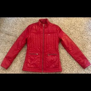 LACOSTE Red Puffer Jacket